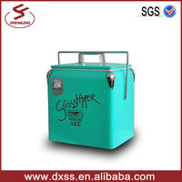 Portable small ice chest barrel drink cooler