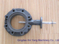 Type A Manual-Operated Wafer micro gear pump casted Double Flanged butterfly valve