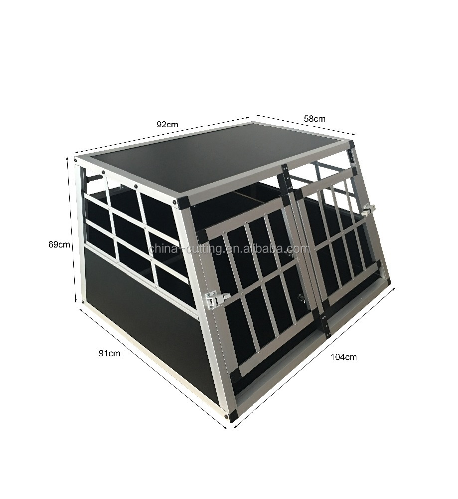 Carriage cage Aluminum Dog Cage Crate Suitcase Folding Animal Kennel Pet Puppy Pen