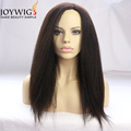Newest fashion from Qingdao10A Italian Yaki color dark brown Glueless Indian Human Hair Full Lace Wig