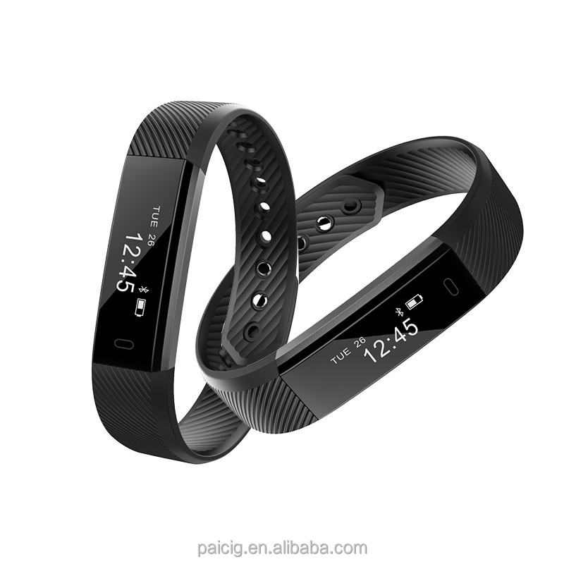 2017 Newest Smart Wrist Band with Connected GPS Bluetooth Heart Rate Fitness Band Waterproof ID115 Plus