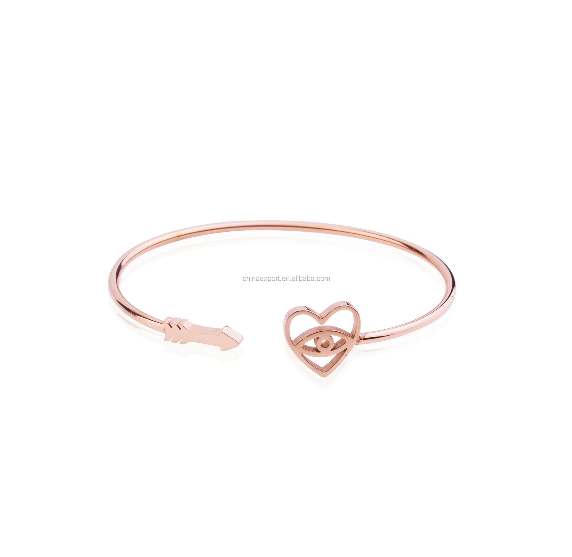 Stainless steel rose gold I am sexy cuff bracelets