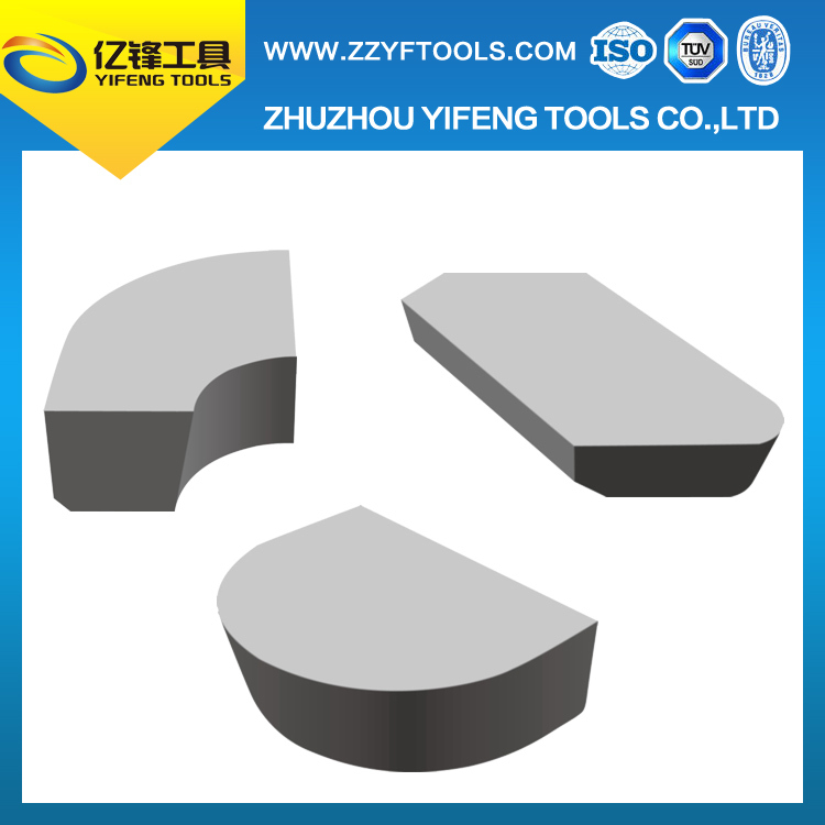 YG6 tungsten carbide tips for making forming tools for machining concave radii and forming turning tools for railway wheels
