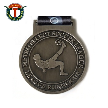 Design Your Own Commemorative Metal Medals Soccer Sports Medals