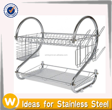 Two Tier Stainless Steel Wire Dish Rack