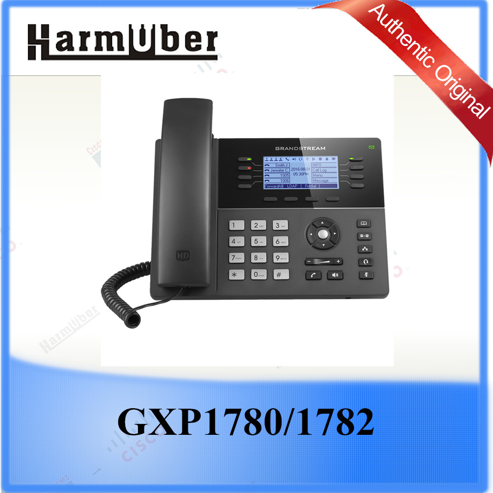 Grandstream 8 Lines, 8 Dual-color Line Keys (with 4 SIP Accounts) PoE IP Phone GXP1782