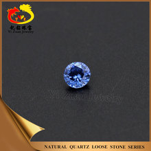 China wholesale Round cut blue cubic zirconia loose gemstones for jewelry sets