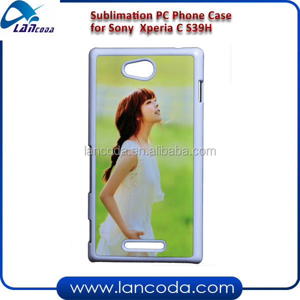 sublimation pc phone case for sony S39H Xperia C PC Case