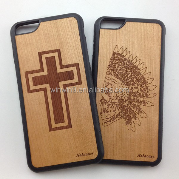New products tpu and pc case wood phone accessory for IPhone, slogan mobile phone accessory case for IPhone 7
