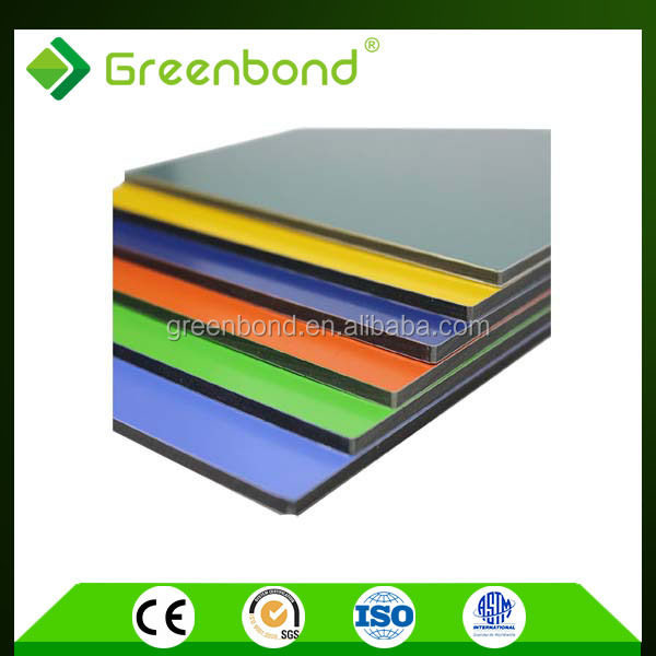 Greenbond popular brushed aluminum composite panel for roof foil decoration materials
