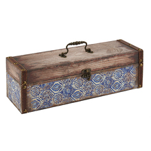 Wholesale cheap antique wooden wine gift boxes for wine bottle