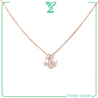 anchor rose necklace set jewelry gold