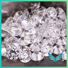 6.0mm AAA 100 Facets White round Synthetic stones cubic zirconia price for Jewelry decoration