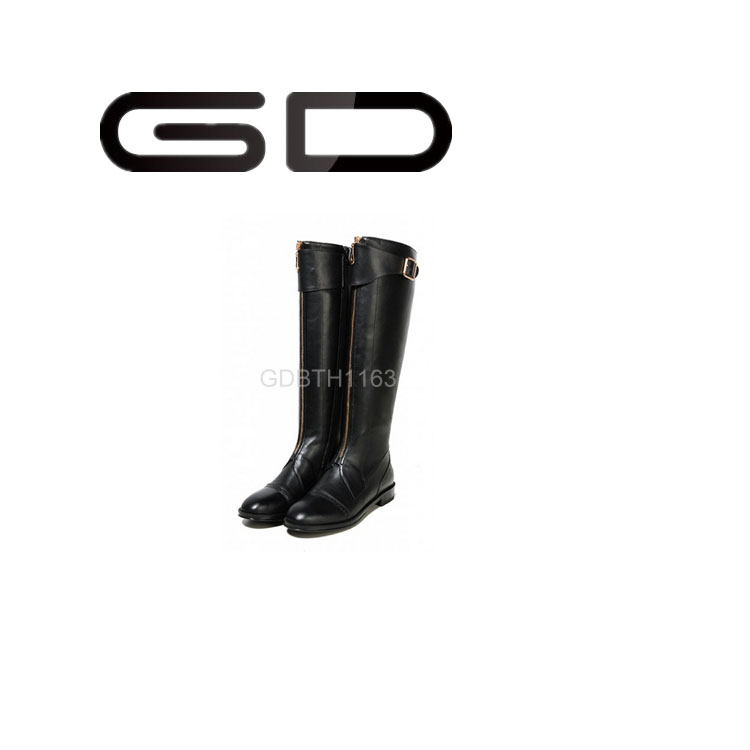 GD riding high boots,no heel knee high boots,lay no heel boots