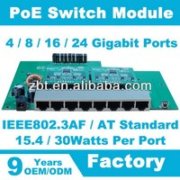 PoE Switch Module 10/100/1000Mbps 8 Ports