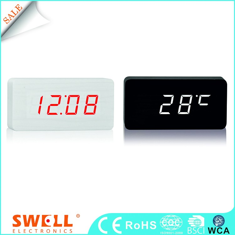 virtual kid clock digital led , white led flash clock