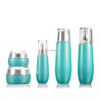 Wholesale 30ml empty glass cosmetic packaging bottle 120ml lotion toner bottle