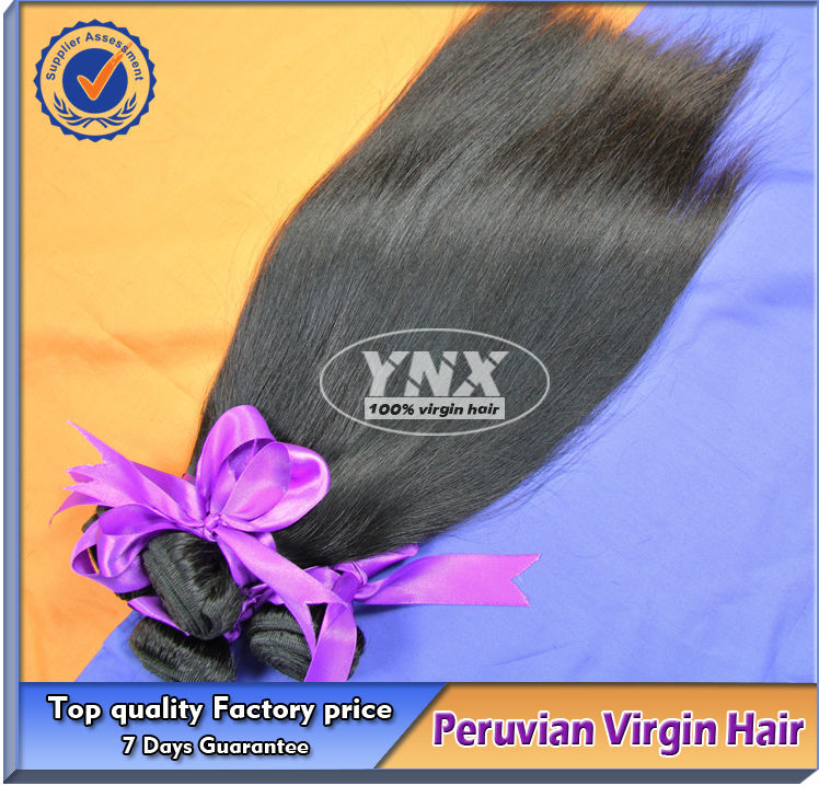 Double weft 100% full hand made natural hair China supplier raw unprocessed virgin Peruvian hair