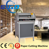 SG-450V+ electric digital paper cutter machine wooden paper cutter