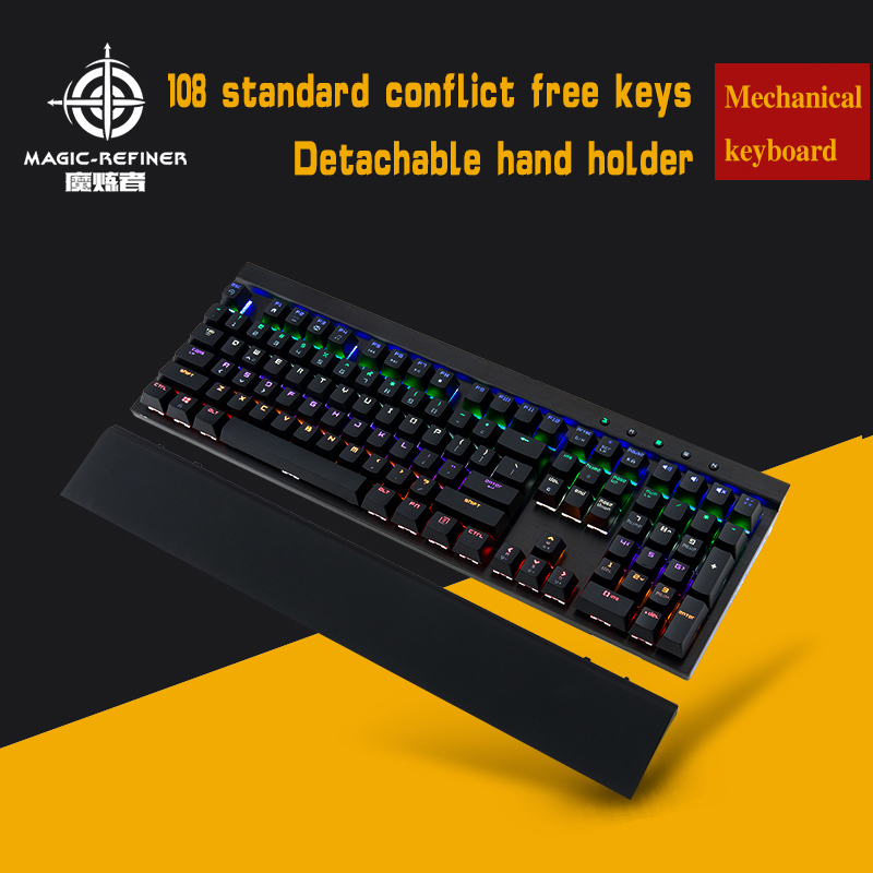Hot sale Wired desktop slim mechanical keyboard with Rainbow backlight & suspension keycaps