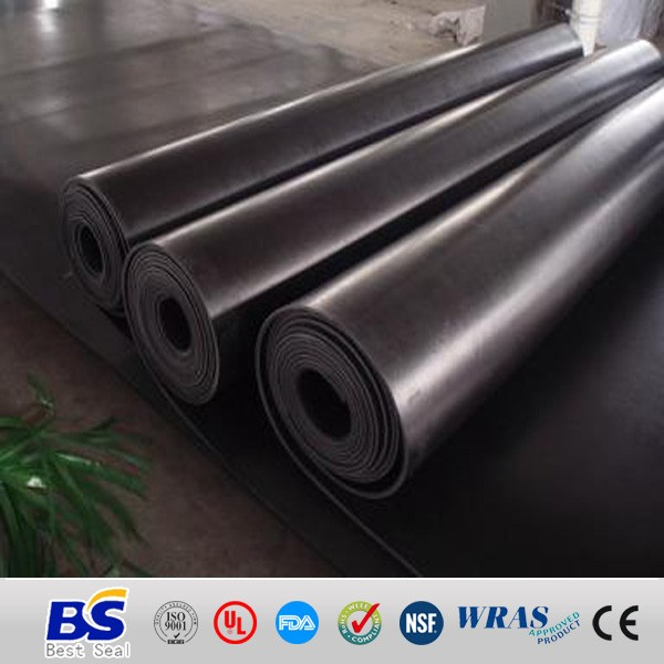 1mm rubber sheet rolls with cloth insert