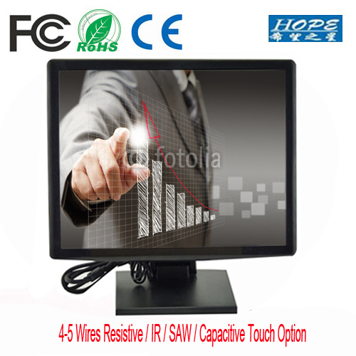 Strong Metal Stand 10 inch Touch Screen computer LCD LED Monitor