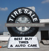 advertising inflatable big car tyre model replica for sale