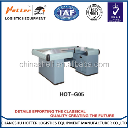 High quality hot sale supermarket display checkout counter ,chckout table,Corner cash register