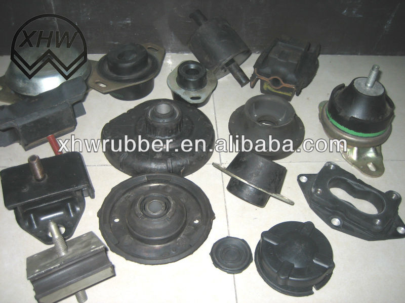 Rubber bonded to plastic