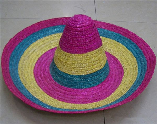 Big Brim Wholesale Light Pink Mexican Straw Hat