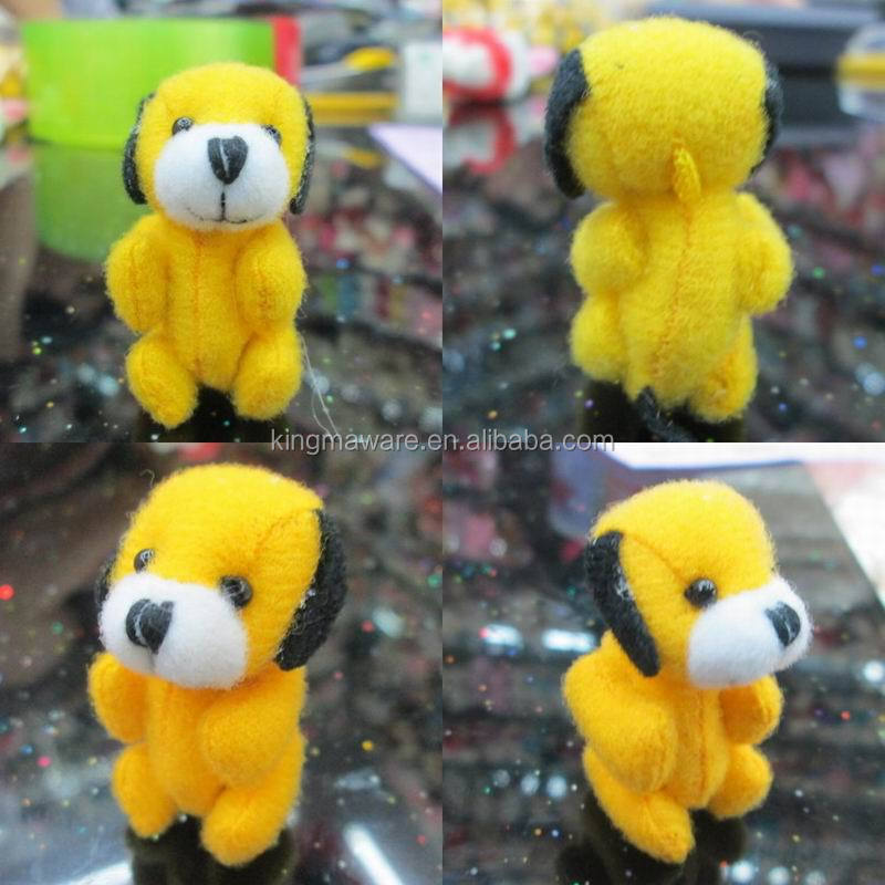 4.5CM small plush joint dog/mini plush dog soft toy/plush dog keychain