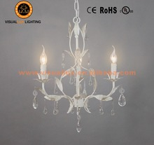 Leave Chandelier Lighting IC4061-3WH Chandelier Crystals Vintage Lamp Interior Decoration
