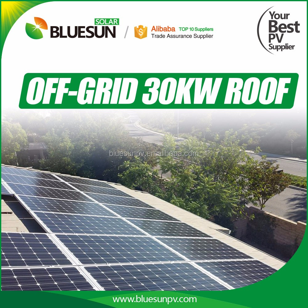 Bluesun 7500w off grid solar energy systems 7.5kva solar energy storage system with battery
