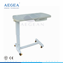 AG-OBT009 Practical ABS hospital over bed table with Drawer