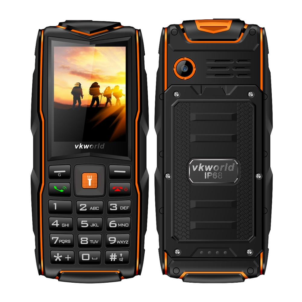 Hot Selling Make Your Own Phone VKWORLD New Stone V3 2.4 inch Feature Phone IP68 Waterproof Rugged Cell phone