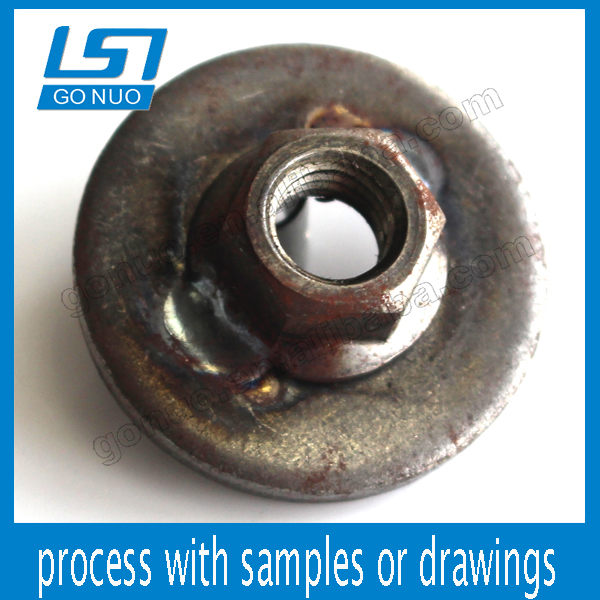 Good price custom steel welding spacer nut of flat washer and hex nut
