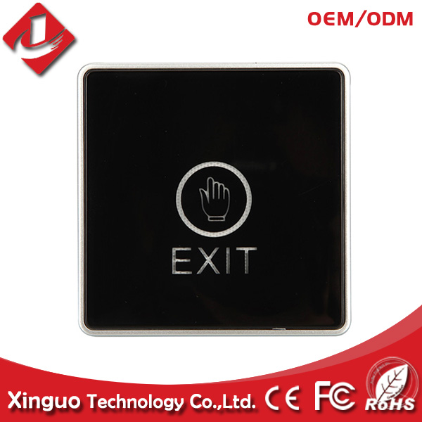 Wall Touch Exit Door Access Release Button Open Switch Square with LED Light