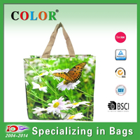 wholesale custom fashion foldable recycle PP lamianted shopping bag