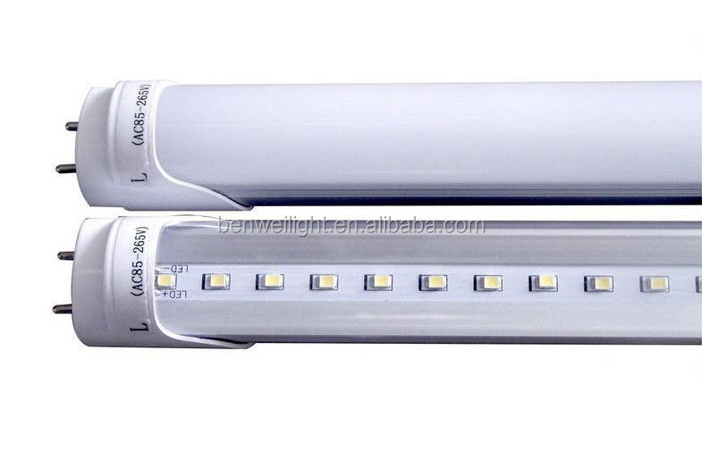 common t8 tube 100lm/w 9w / 2ft led t8 fluorescent tubes UL & DLC listed 9w 18w 22w led tube lamp