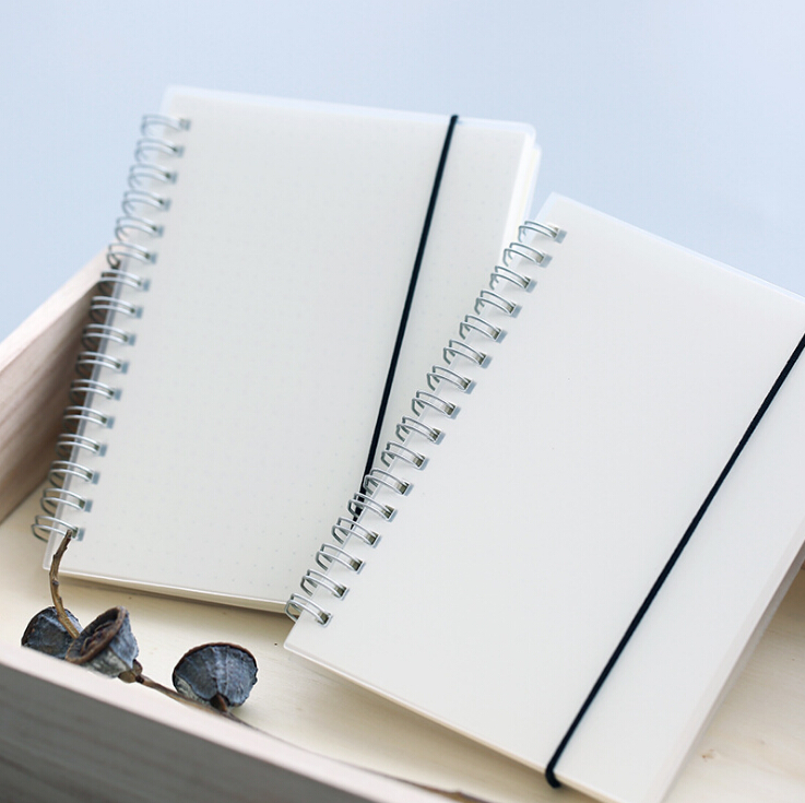 High Quality Frosted Spiral Transparent Hard Plastic notebook Clear PP Cover Notebook