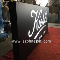 Company Logo Acrylic Frontlit Letter Sign For Store Outdoor LED 3D Waterproof Box letter Stainless steel advertising signage