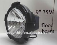 6wd 9'' 75w hid off road light , 75w xenon work lamp ,4x4 cars