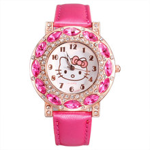 2017 hot Hello Kitty Kid's life waterproof watch best Christmas gift watches