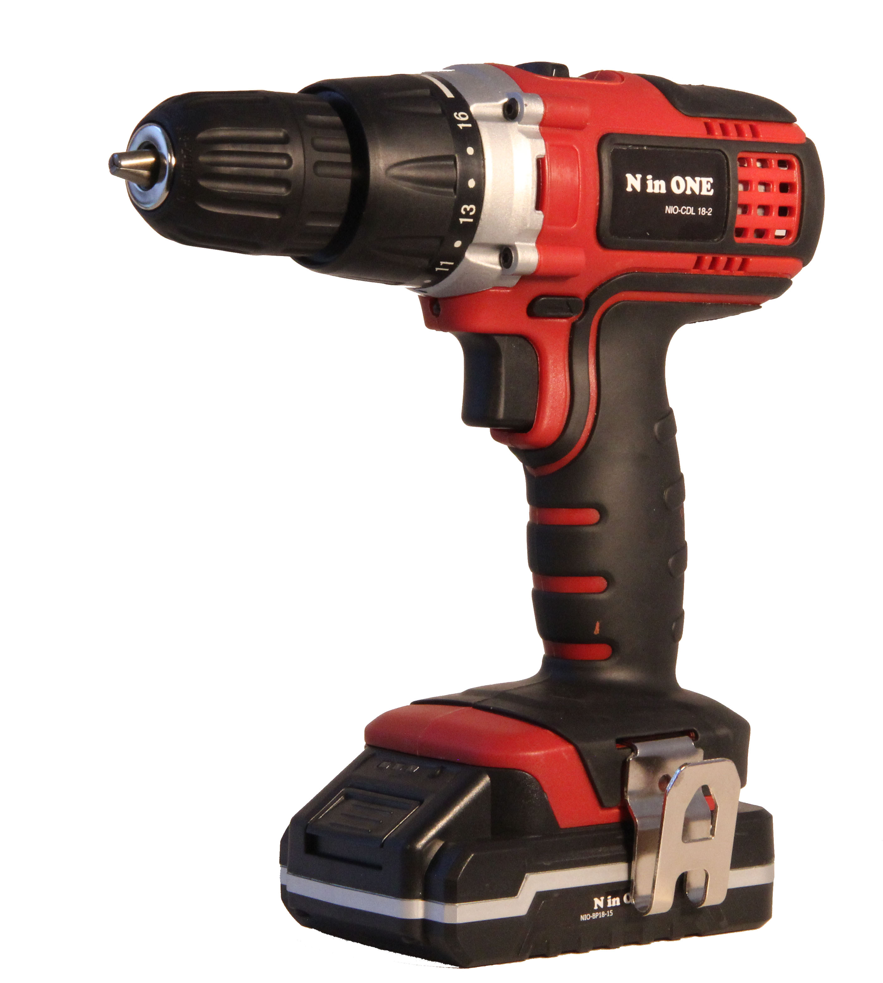 NinONE 18V Li-Ion 2.0A Battery Double Speed 45Nm Impact Function Heavy Duty Cordless <strong>Drill</strong>