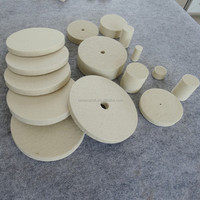 provide china trade wool felt edge abrasive flap polishing wheel by factory