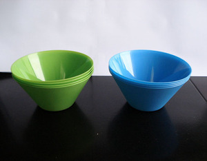 Cone Shape plastic mixing fruit rice bowl 14cm