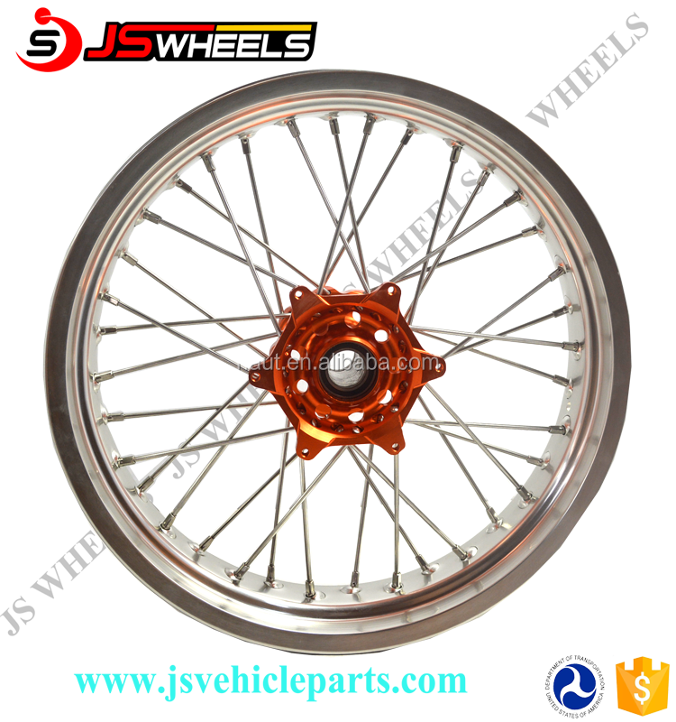 KTM Supermoto Motorcycle 17 Inch Wide Wheel Set for EXC 125