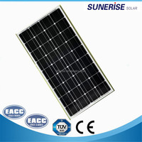 grade A cell cheap price monocrystalline 18v 100w solar pv panel module with home solar system