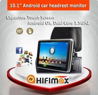 Hifimax 10.1 inch android car headrest monitor with wifi car headrest android tablet with Capactive Touch Screen