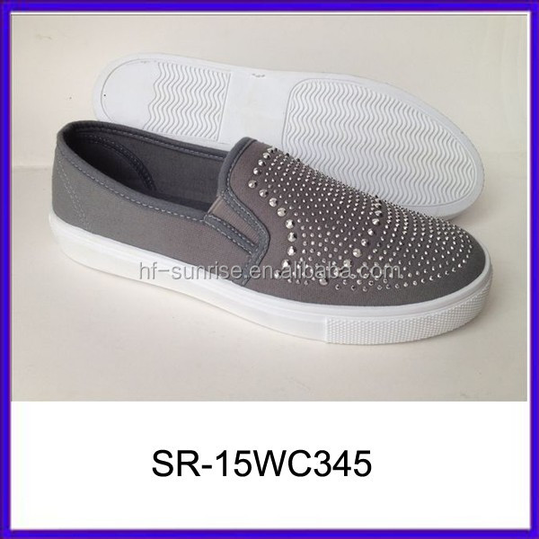 beaded fashion canvas shoes online footwear slip on canvas shoes